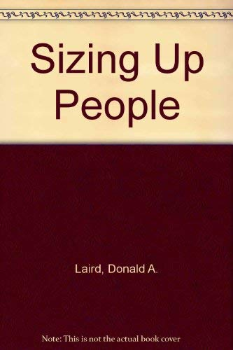 9780070360051: Sizing Up People