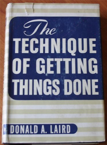 9780070360808: The Technique of Getting Things Done