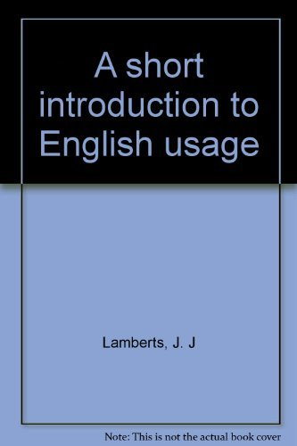 9780070360839: A short introduction to English usage