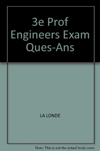 9780070360952: Professional Engineer's Examinations, Questions and Answers