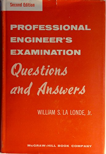 9780070360990: Professional Engineer's Examination Questions and Answers