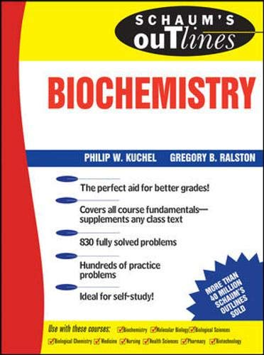 9780070361492: Schaum's Outline of Biochemistry (Schaum's Outline Series)