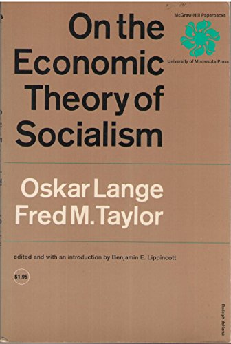 9780070362598: On the Economic Theory of Socialism