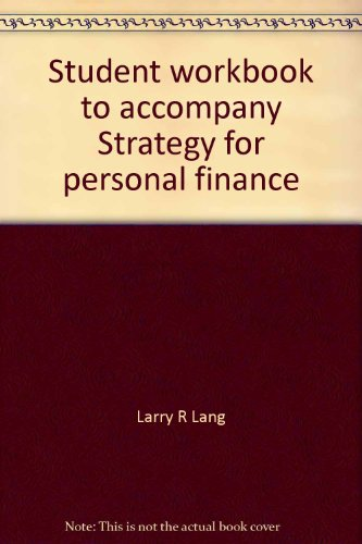 9780070362826: Student workbook to accompany Strategy for personal finance