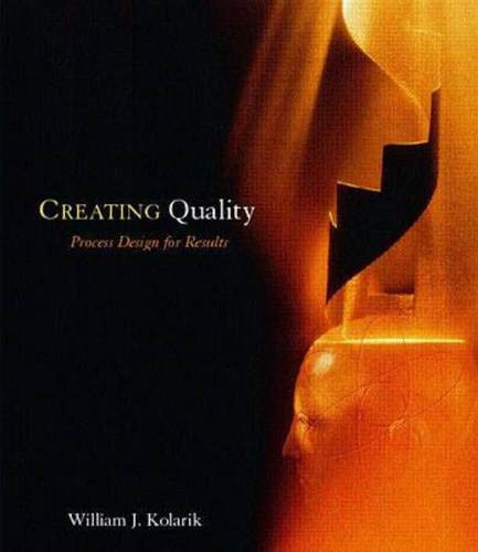 9780070363090: Creating Quality Process Design for Results