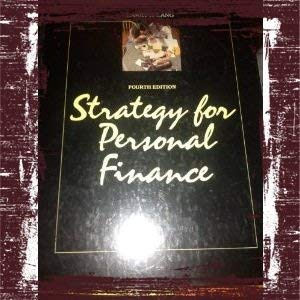 9780070363175: Strategy for Personal Finance (The McGraw-Hill series in finance)