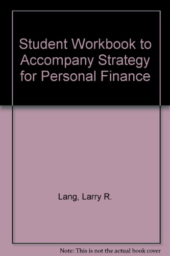 9780070363199: Student Workbook to Accompany Strategy for Personal Finance