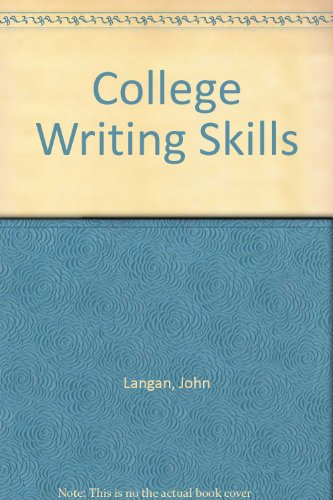 9780070363205: College Writing Skills
