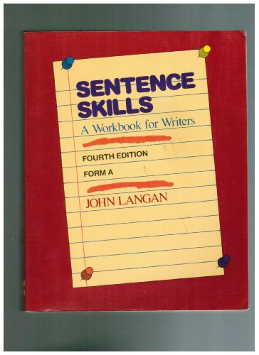 9780070363373: Sentence skills: A workbook for writers : form A