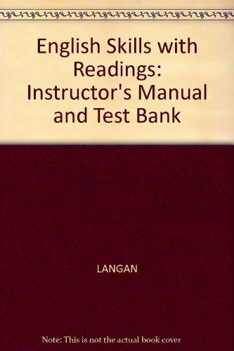 9780070363755: English Skills with Readings: Instructor's Manual and Test Bank