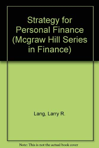 9780070364004: Strategy for Personal Finance (Mcgraw Hill Series in Finance)