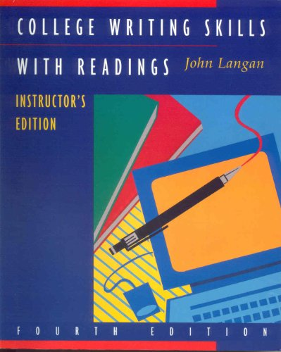 9780070364608: College Writing Skills With Readings