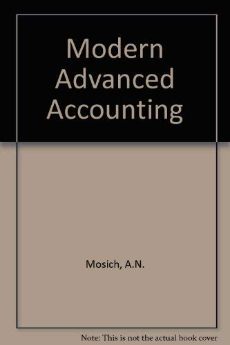 9780070365087: Modern Advanced Accounting