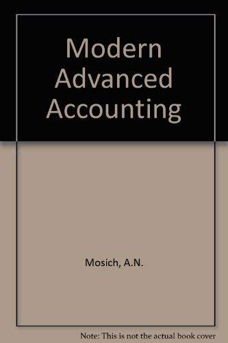 9780070365087: Modern Advanced Accounting