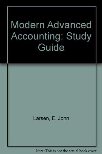 9780070365124: Modern Advanced Accounting: Study Guide
