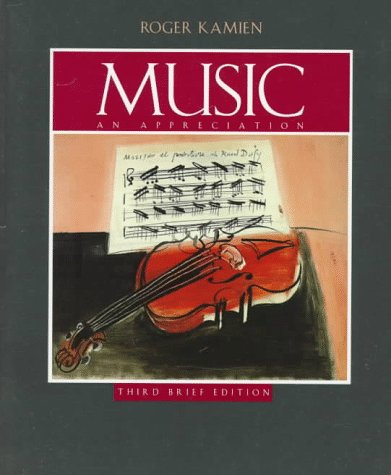 9780070365216: Music : An Appreciation-Student Brief (Paperback Book Only)