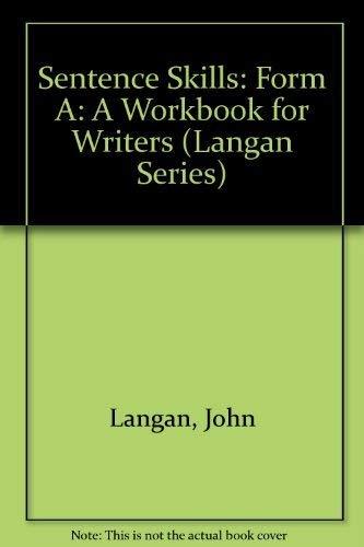 Sentence Skills Form A By Langan John Mcgraw Hill College USA