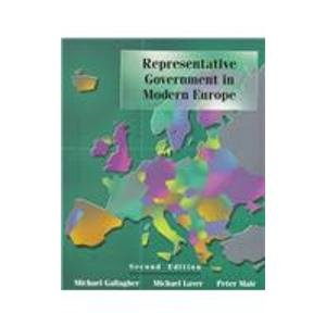 9780070366879: Representative Government in Modern Europe