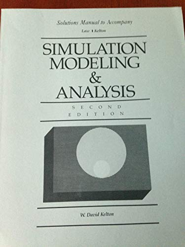 9780070366992: Simulation Modeling and Analysis: Solutions Manual