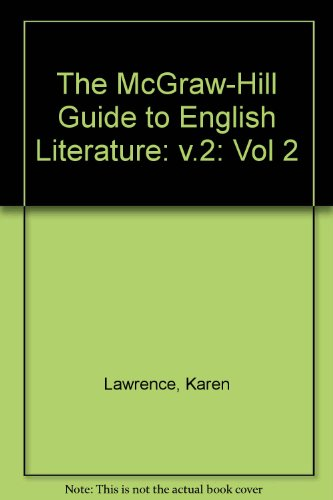 9780070367050: The McGraw-Hill Guide to English Literature: William Blake to D.H. Lawrence