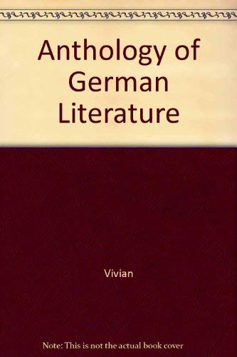 9780070368071: Anthology of German Literature (McGraw-Hill Anthology of German Literature)