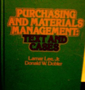 9780070370272: Purchasing and materials management: Text and cases (McGraw-Hill series in management)