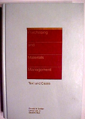 9780070370425: Purchasing and materials management: Text and cases (McGraw-Hill series in management)
