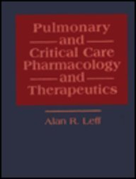 9780070370968: Pulmonary and Critical Care Pharmacology and Therapeutics