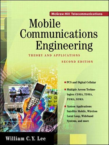 9780070371033: MOBILE COMMUNICATIONS ENGINEERING. Theory and applications, 2nd edition