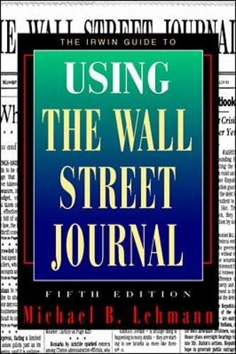 """9780070371194: Irwin Guide to Using the """"Wall Street Journal"""""""