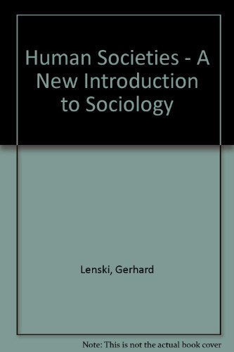 9780070371668: Human Societies - A New Introduction to Sociology
