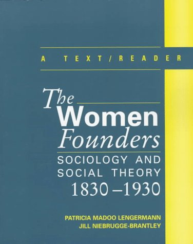 9780070371699: Women Founders: Sociology and Social Theory, 1830-1930 - A Text with Readings