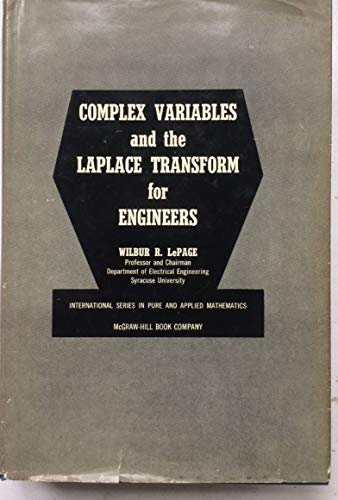 9780070372061: Complex Variables and Laplace Transform for Engineers (Pure & Applied Mathematics)