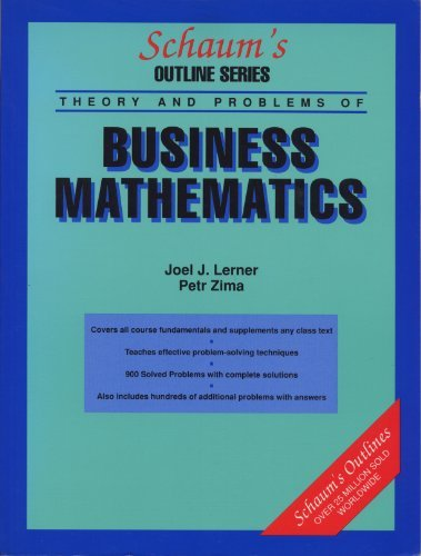 Schaum's Outline of Theory and Problems of: Lerner, Joel J.,