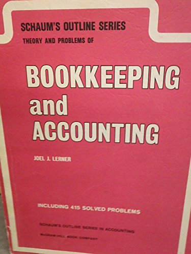 9780070372214: Schaum's Outline of Theory and Problems of Bookkeeping and Accounting
