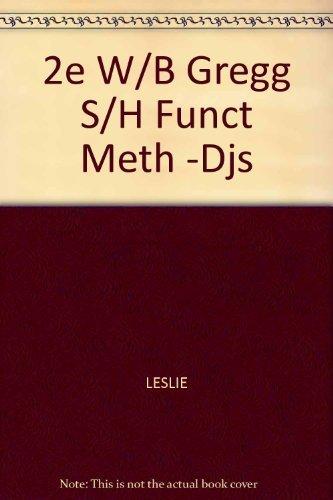 9780070372504: Gregg Shorthand Functional Method Workbook
