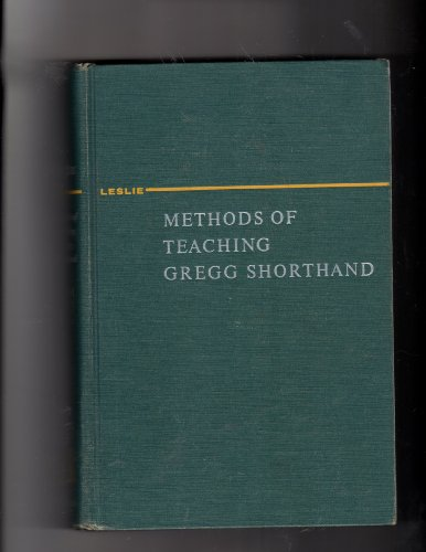 9780070372542: Methods Of Teaching Gregg Shorthand