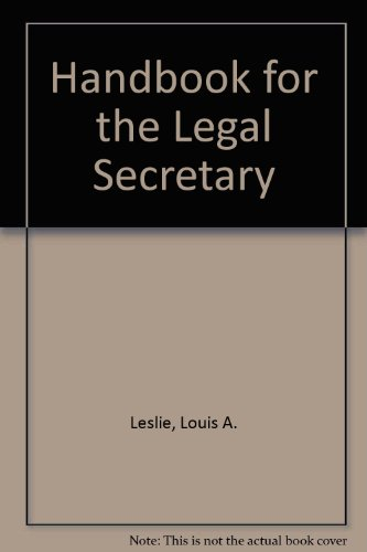 9780070372771: Handbook for the Legal Secretary