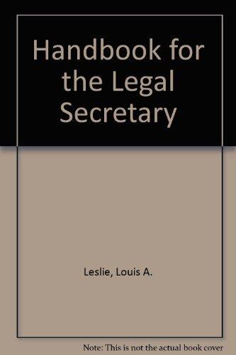 9780070372771: Handbook for the Legal Secretary