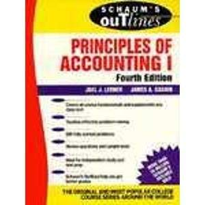 9780070372788: Schaum's Outline of Theory and Problems of Principles of Accounting (Schaum's Outline Series) (Pt. 1)