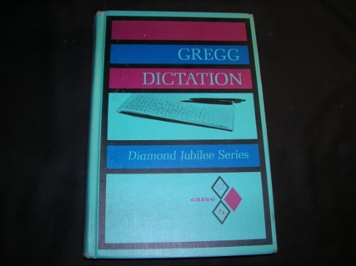 9780070373051: Gregg Dictation : Diamond Jubilee Series