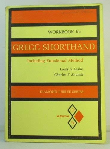 9780070373082: Workbook for Gregg Shorthand Including Functional Method
