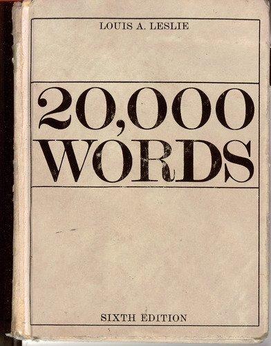 9780070373402: 20,000 Words