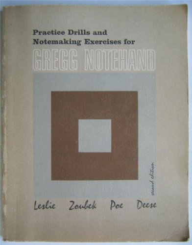 9780070373433: Gregg Notehand Practice Drills and Notemaking Exercises