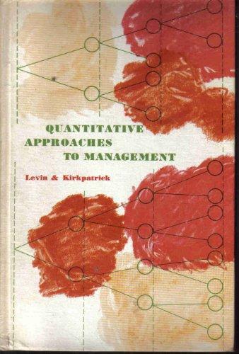 9780070373709: Quantitative Approaches to Management