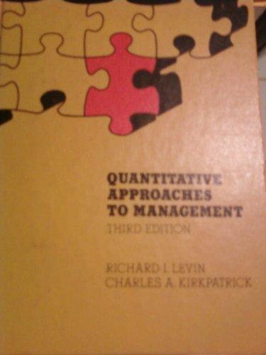 9780070373815: Quantitative approaches to management