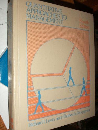 9780070374232: Quantitative approaches to management