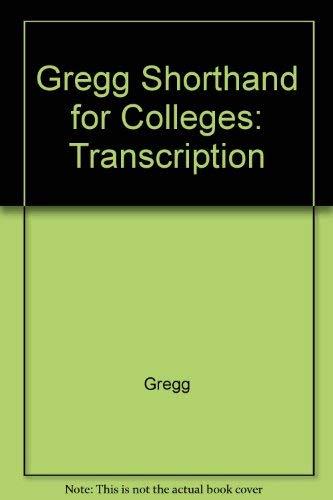 9780070374256: Gregg shorthand for colleges: transcription (Diamond jubilee series)