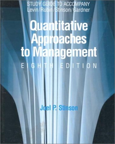9780070375796: Quantative Approaches to Management