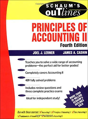 9780070375895: Schaum's Outline of Principles of Accounting II: Pt. 2 (Schaum's Outline Series)